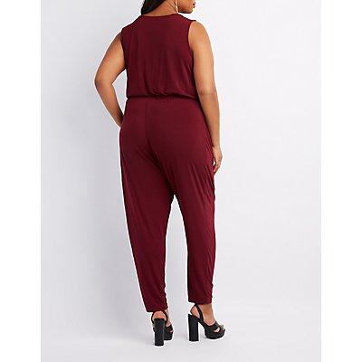 Plus Size Zip-Up Front Jumpsuit