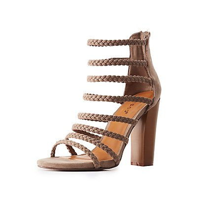 Bamboo Strappy Braided Sandals