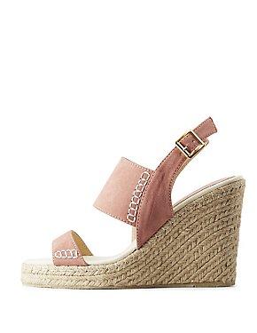 Qupid Espadrille Wedge Sandals