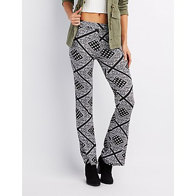Printed Flare Pants