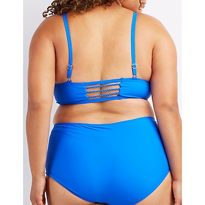 Plus Size Braided Bikini Top