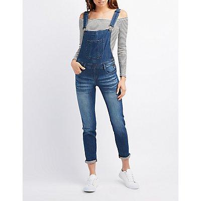 Machine Jeans Dark Wash Denim Overalls