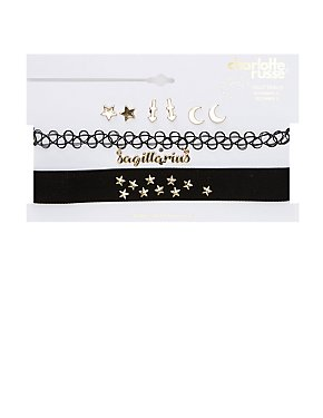 Sagittarius Choker Necklaces & Earrings Set