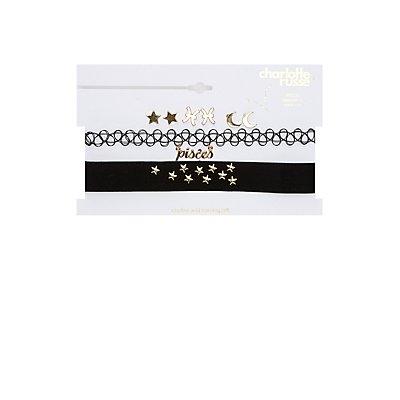 Pisces Choker Necklaces & Earrings Set