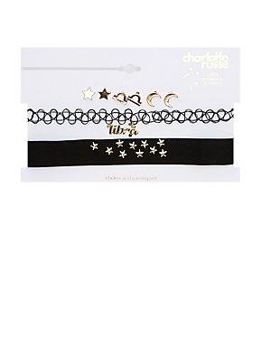 Libra Choker Necklaces & Earrings Set