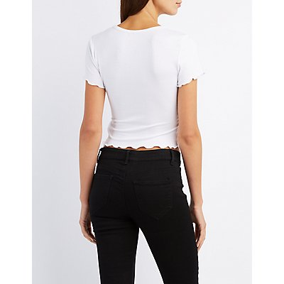 Not Interested Ribbed Tee