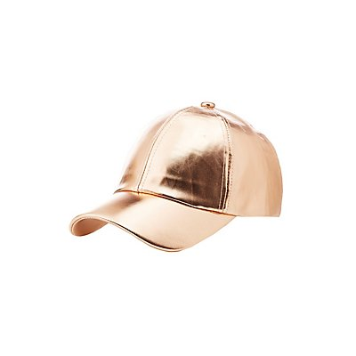 Faux Leather Baseball Hat