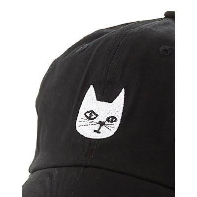 Cat Patch Baseball Hat
