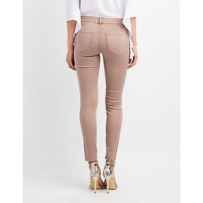 Zip-Front Pocket Skinny Jeans