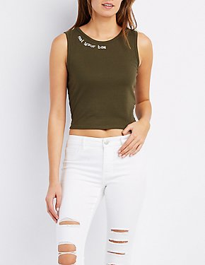 Not Your Bae Crop Top