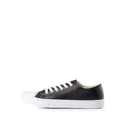 Qupid Cap Toe Lace-Up Sneakers