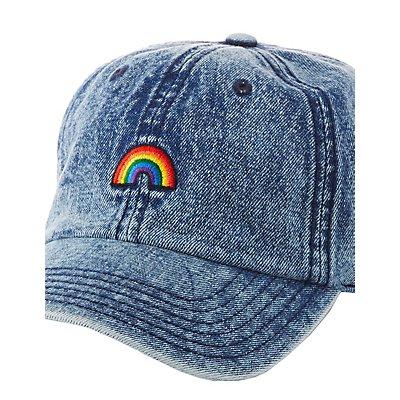 Rainbow Patch Denim Baseball Hat