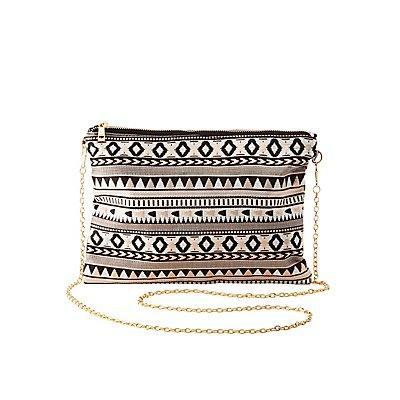 Tribal Woven Crossbody Bag