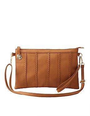 Braided-Trim Crossbody Bag