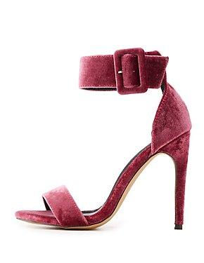 Velvet Two-Piece Sandals