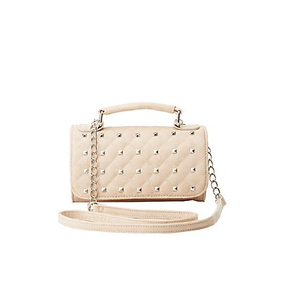 Studded Crossbody Flap Bag
