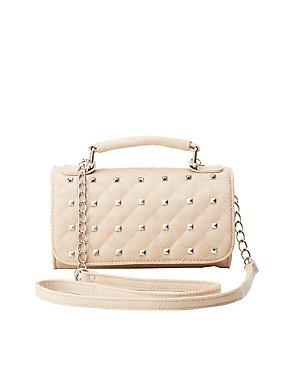 Studded Crossbody Flap Bag