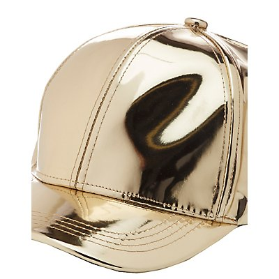 Faux Patent Leather Baseball Hat