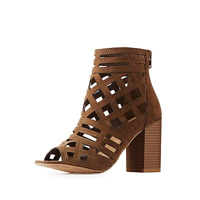 Geometric Laser Cut Ankle Booties
