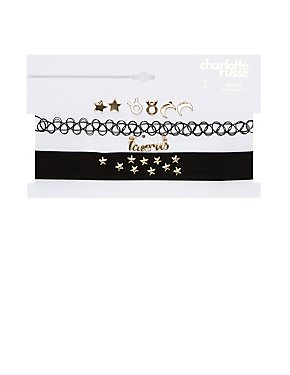 Taurus Choker Necklaces & Earrings Set