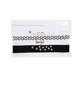 Virgo Choker Necklaces & Earrings Set
