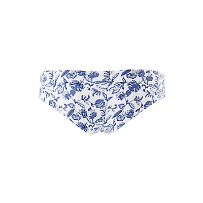 Printed Laser Cut Cheeky Panties