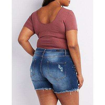 Plus Size Scoop Neck Bodysuit