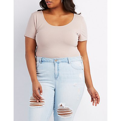 Plus Size Scoop Neck Bodysuit