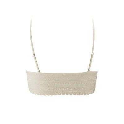 Plus Size Lace Longline Bralette