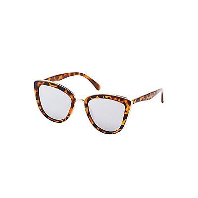 Tortoise Shell Gold-Trim Sunglasses