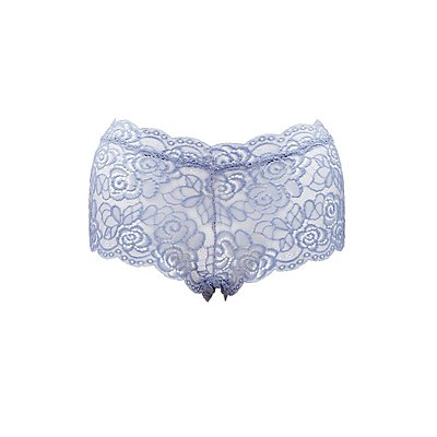 Plus Size Sheer Lace Cheeky Panties