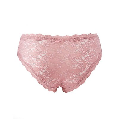 Plus Size Scalloped Lace Hipster Panties