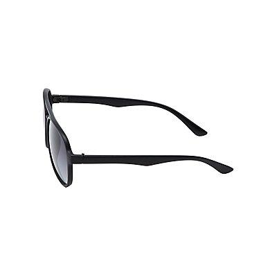 Matte Aviator Sunglasses