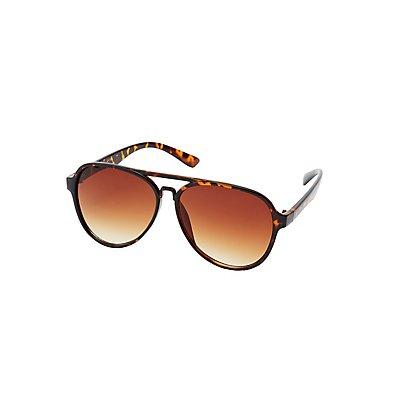 Tortoise Shell Aviator Sunglasses