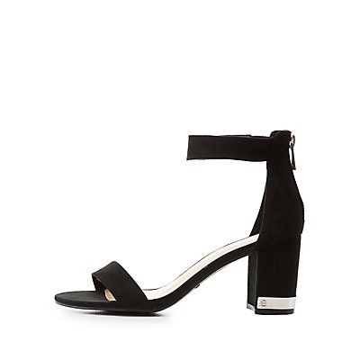 Bamboo Silver-Trim Two-Piece Sandals