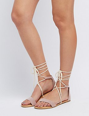 Two-Piece Lace-Up Sandals