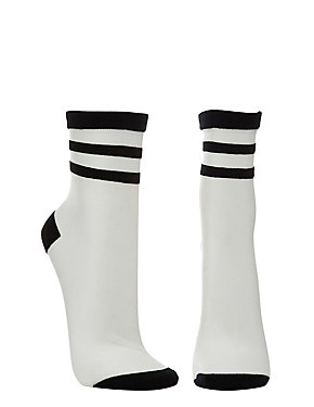 Sheer Mesh Tube Socks