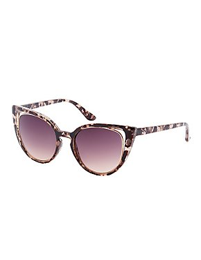 Marbled Cat Eye Sunglasses