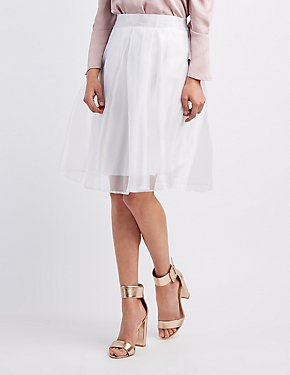 Organza Full Midi Skirt