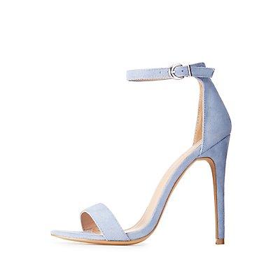 Faux Suede Two-Piece Dress Sandals
