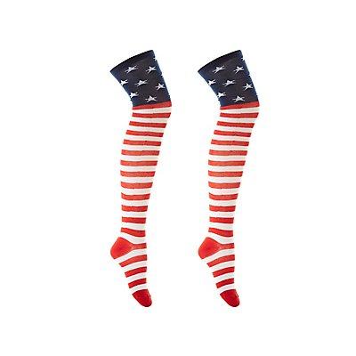 Americana Thigh-High Socks