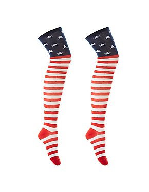 Americana Thigh-High Socks