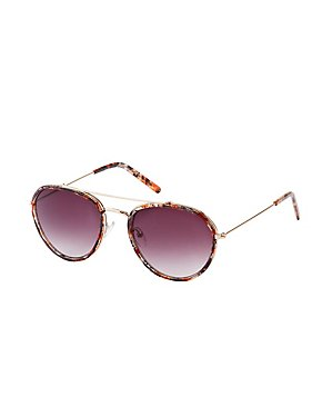 Marbled Aviator Sunglasses