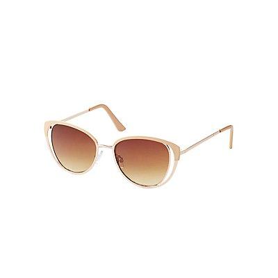 Cut-Out Cat Eye Sunglasses