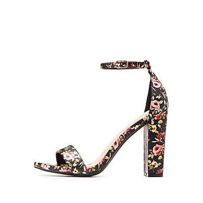 Floral Two-Piece Sandals