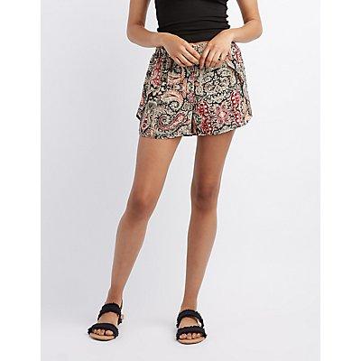 Paisley Wrap Shorts