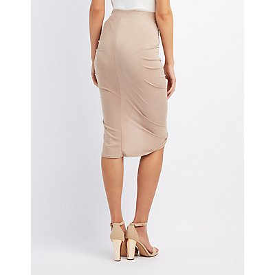 Ruched Bodycon Skirt
