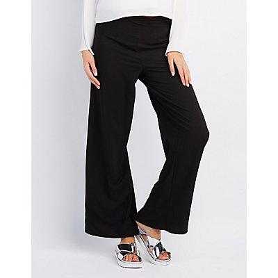 High-Waisted Wide-Leg Pants
