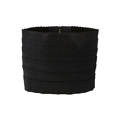 Scalloped Stretch Waist Belt