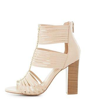 Strappy Three-Piece Sandals